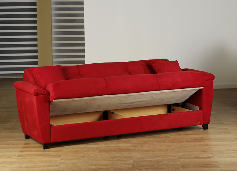 Aspen Rainbow Red Convertible Sofa Bed by Sunset : IS ASPEN RD SLP1 from www.functionalfurniturenyc.com size 800 x 576 jpeg 62kB
