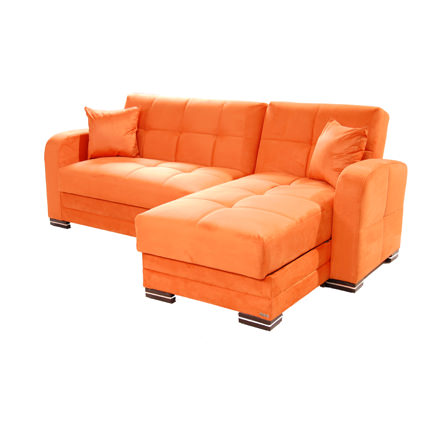 Kubo rainbow orange sectional sofa by sunset for Sofa orange