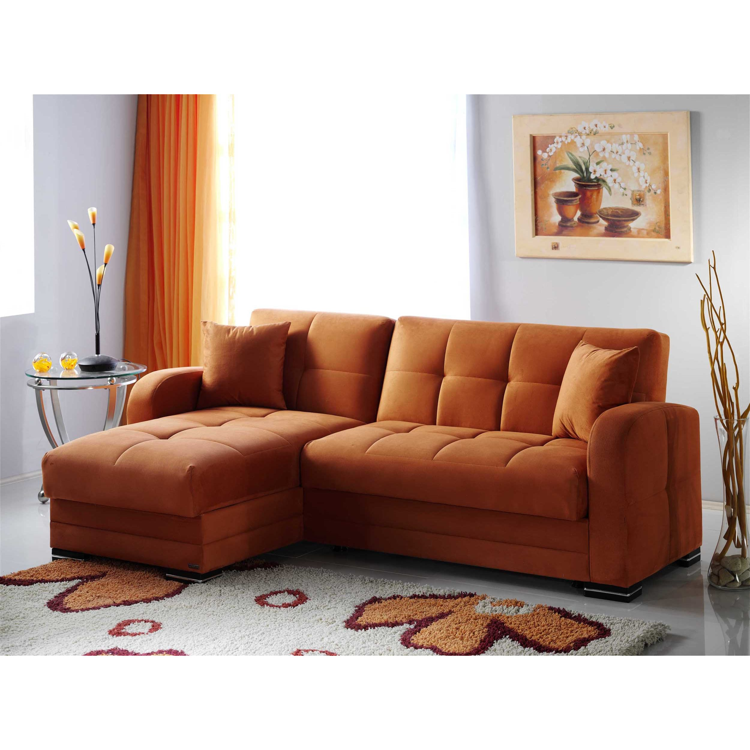 Kubo rainbow orange sectional sofa by istikbal sunset for Sofa orange