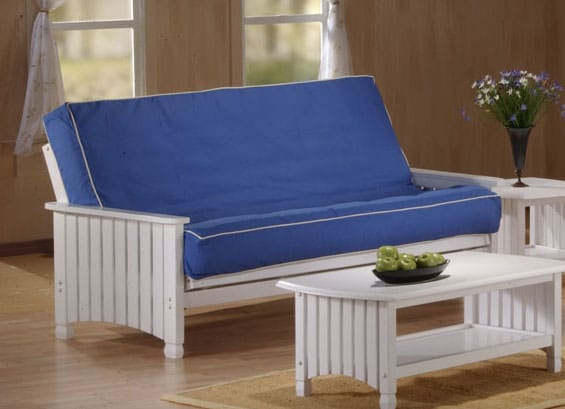 cottage white futon frame by j u0026m furnitures  j u0026m furniture  cottage white futon frame by j u0026m furnitures  rh   functionalfurniturenyc