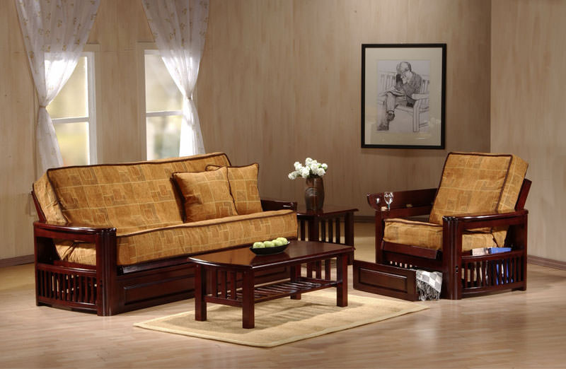 Tudor Teak Futon Frame By Ju0026M Furniture (Ju0026M Furniture)