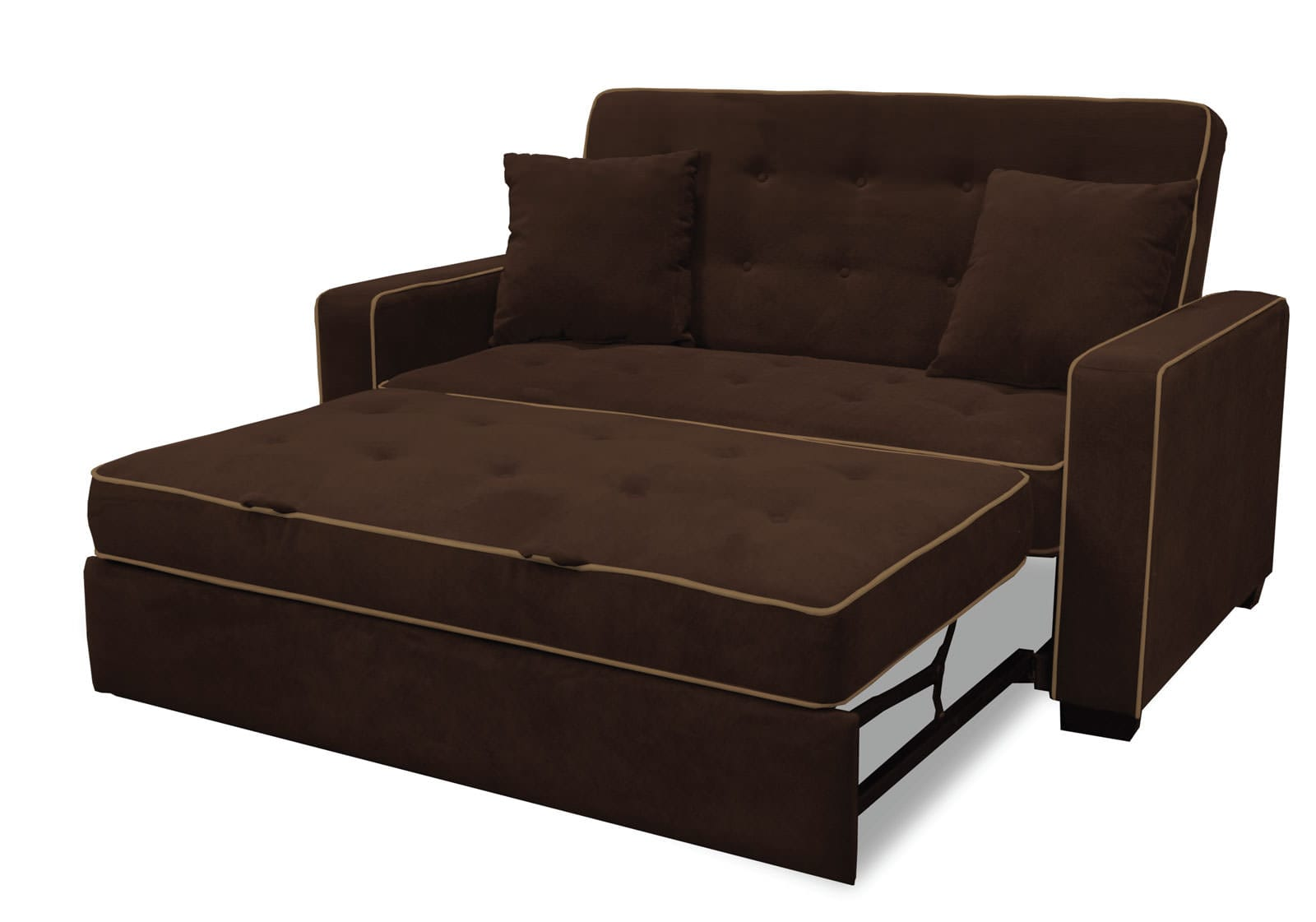 Augustine Loveseat Full Size Sleeper Java By Serta Lifestyle