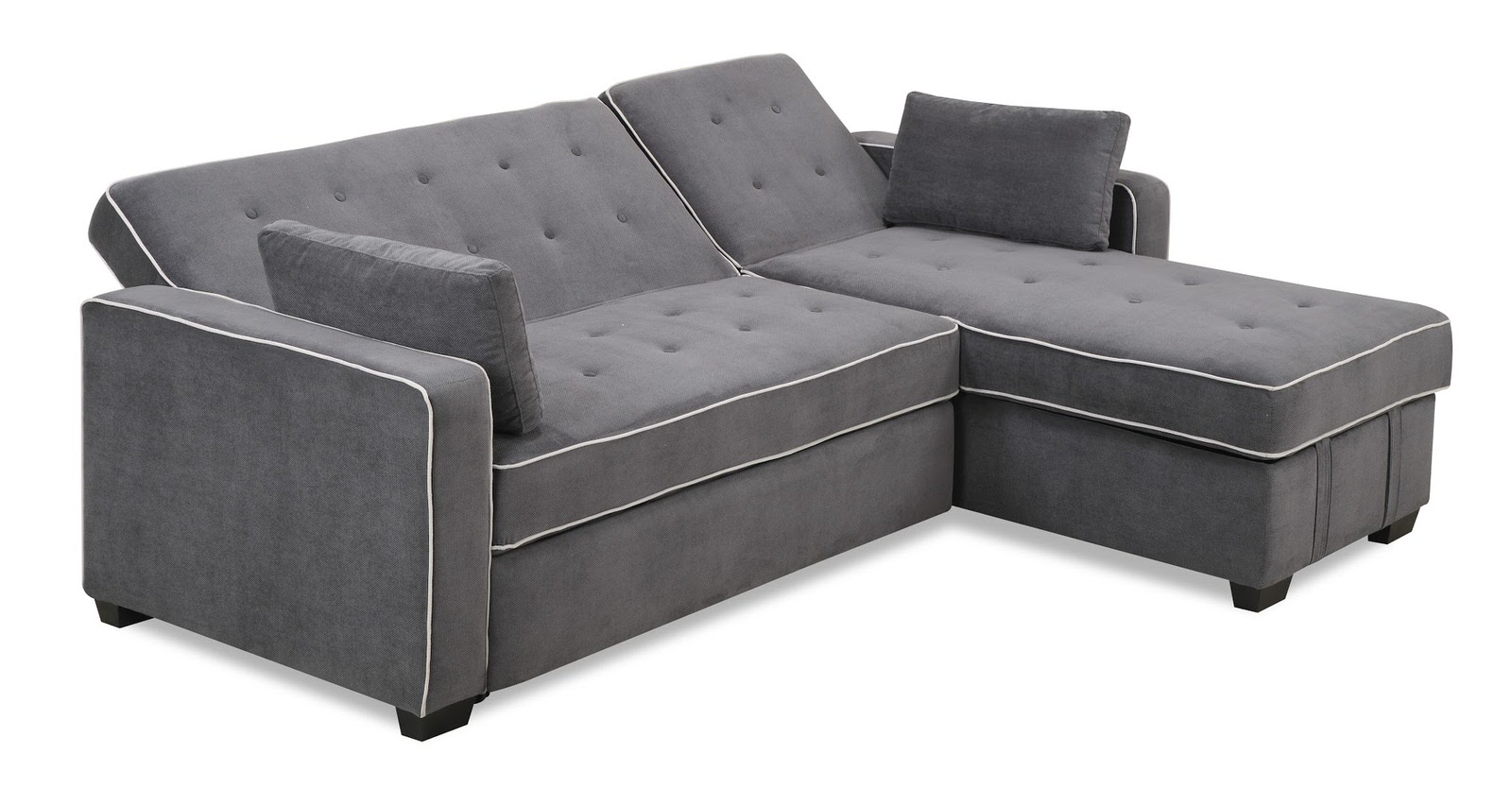 Augustine King Size Sofa Bed Moon Grey