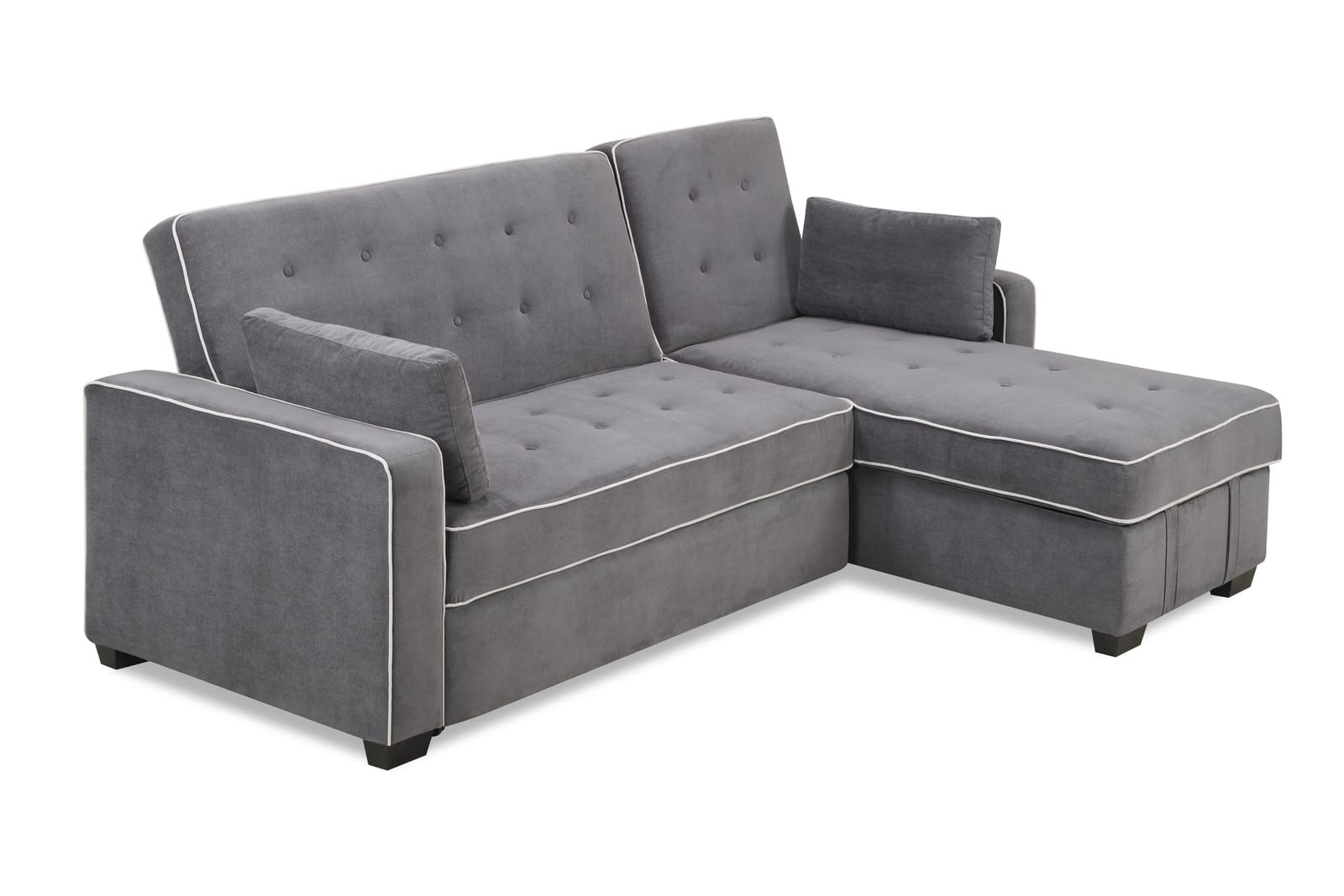 augustine king size sofa bed moon grey by serta lifestyle