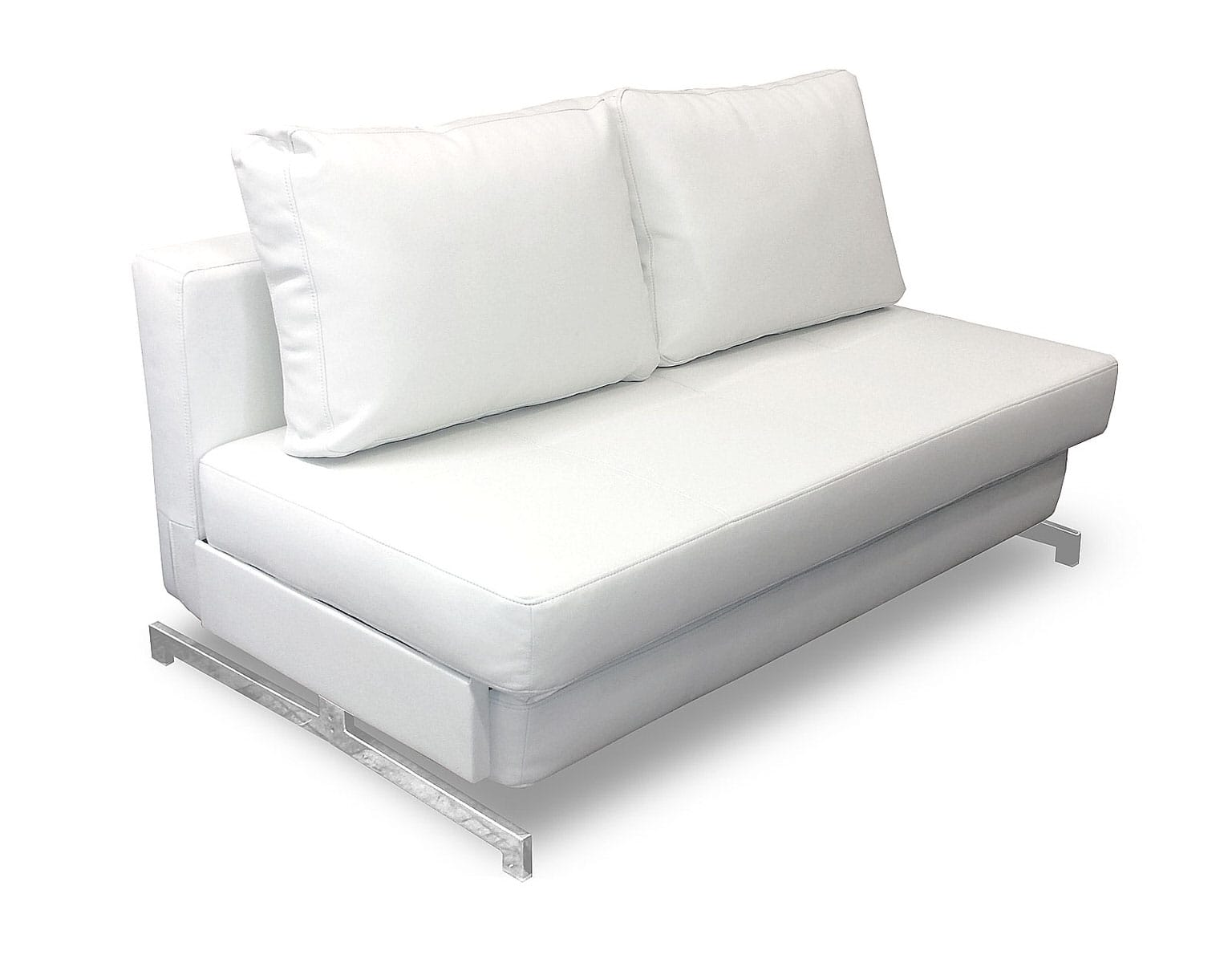 Modern White Leather Textile Queen Sofa Sleeper K43 2 By IDO (Ju0026M Furniture)
