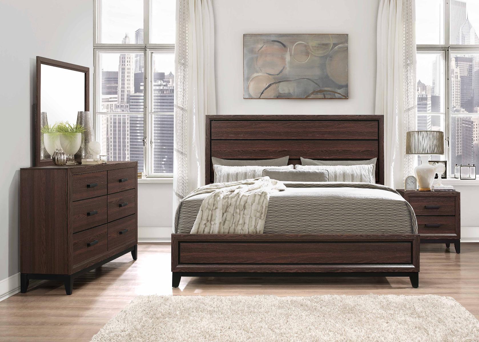 Kate Brown Bedroom Set by Global Furniture