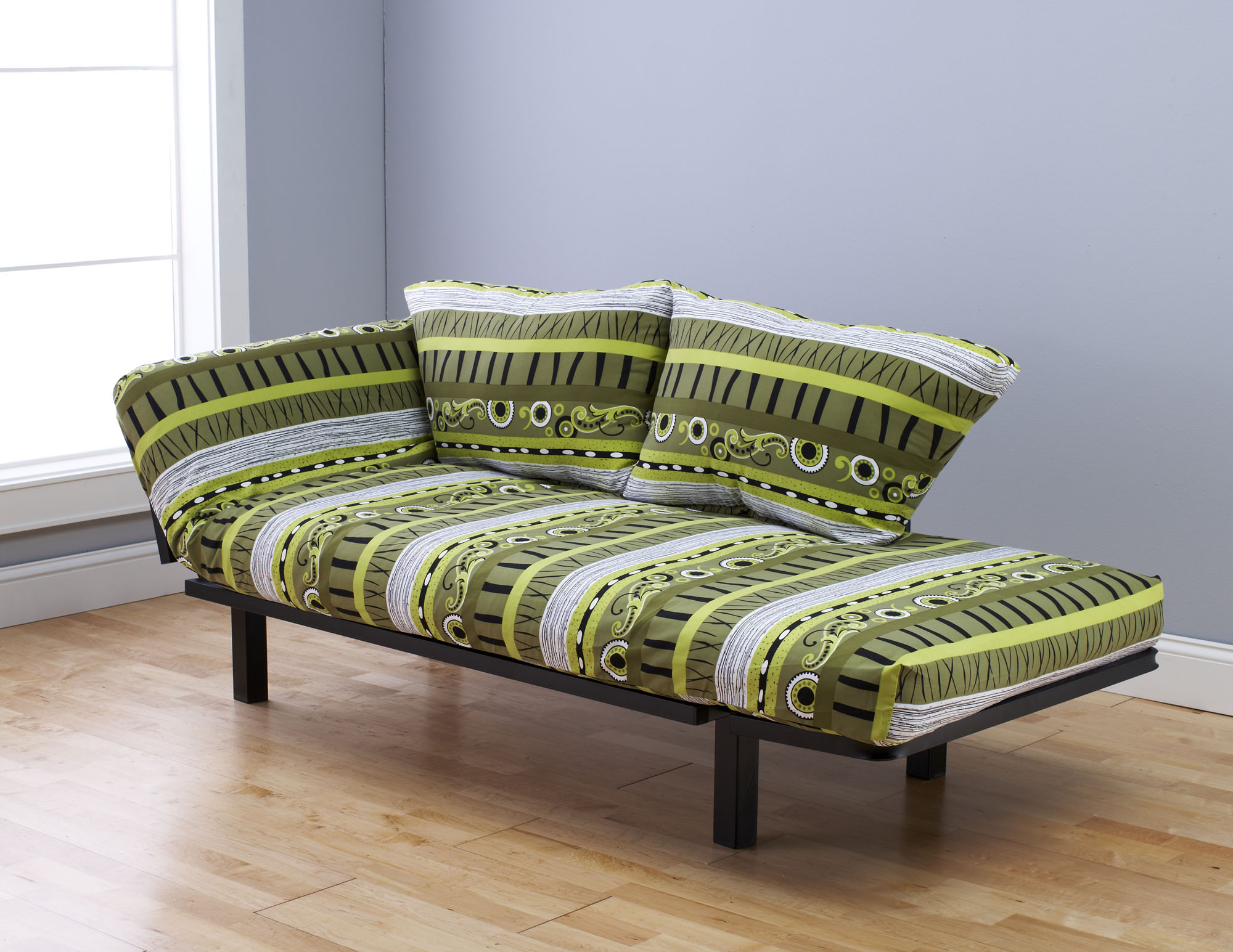 Spacely Futon Daybed Lounger with Mattress Radiant Flux by Kodiak