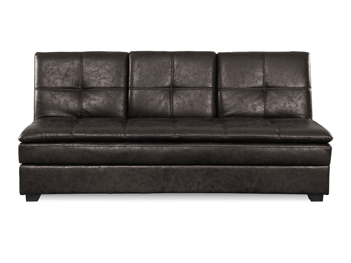 Kingsley convertible sofa midnight burl by serta lifestyle for Divan convertible