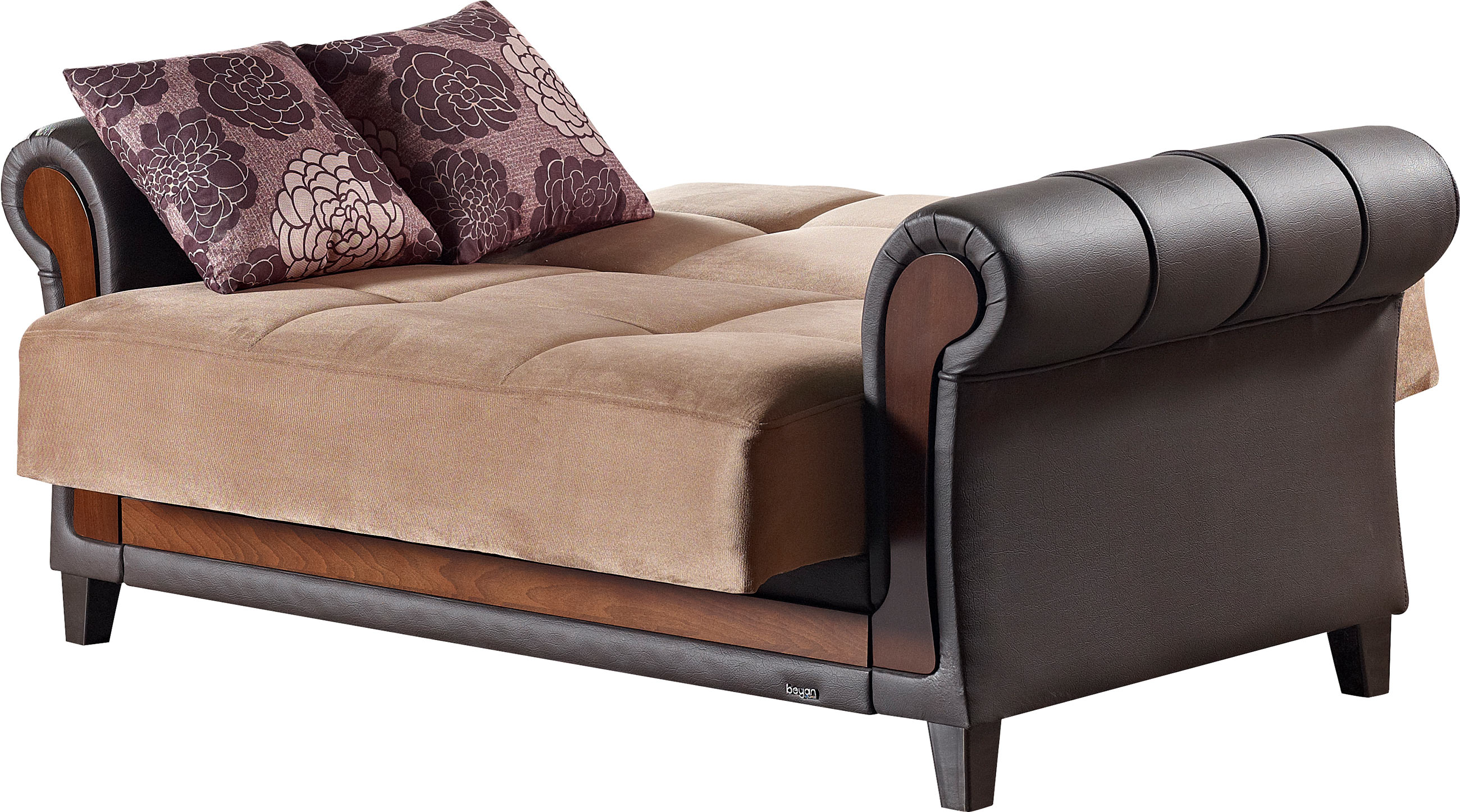 Long Island Brown Fabric Loveseat By Empire Furniture Usa