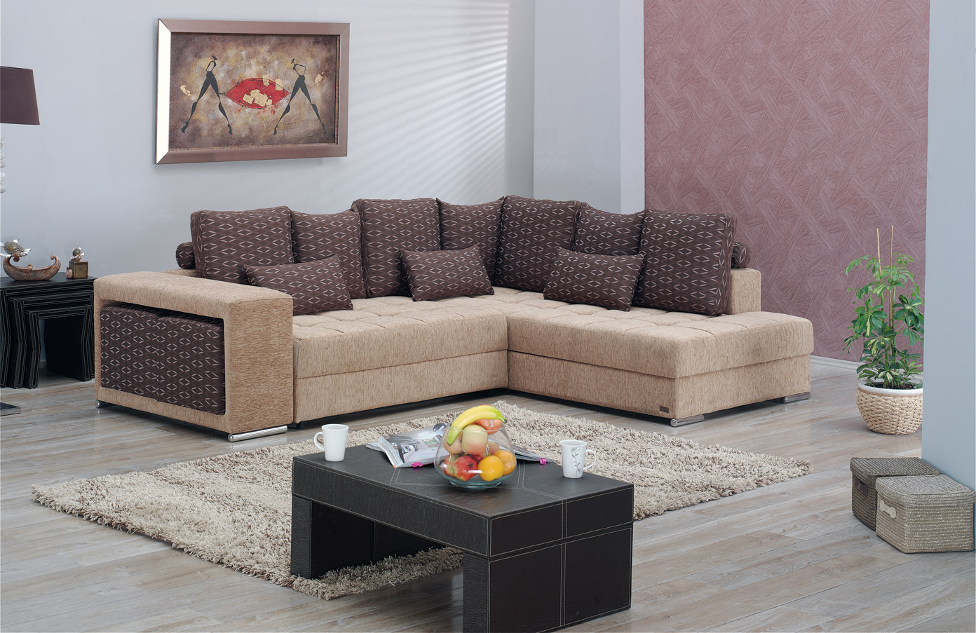 Los Angeles Sectional Sofa Set By Empire Furniture Usa