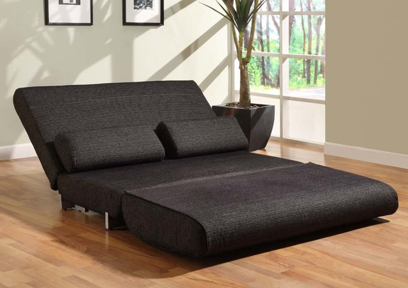 Floor sample yale convertible sofa bed black by lifestyle solutions Convertible couch bunk bed