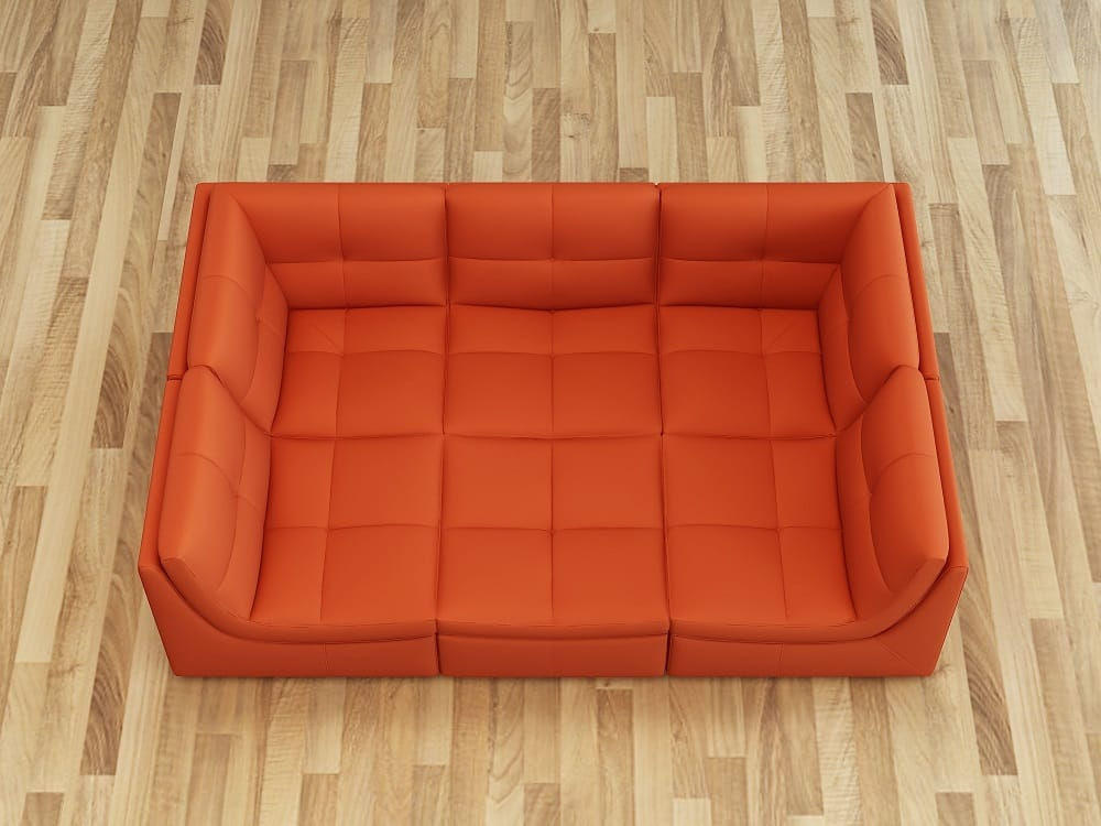 Peachy Lego Leather 6Pc Set Pumpkin By Jm Furniture Squirreltailoven Fun Painted Chair Ideas Images Squirreltailovenorg