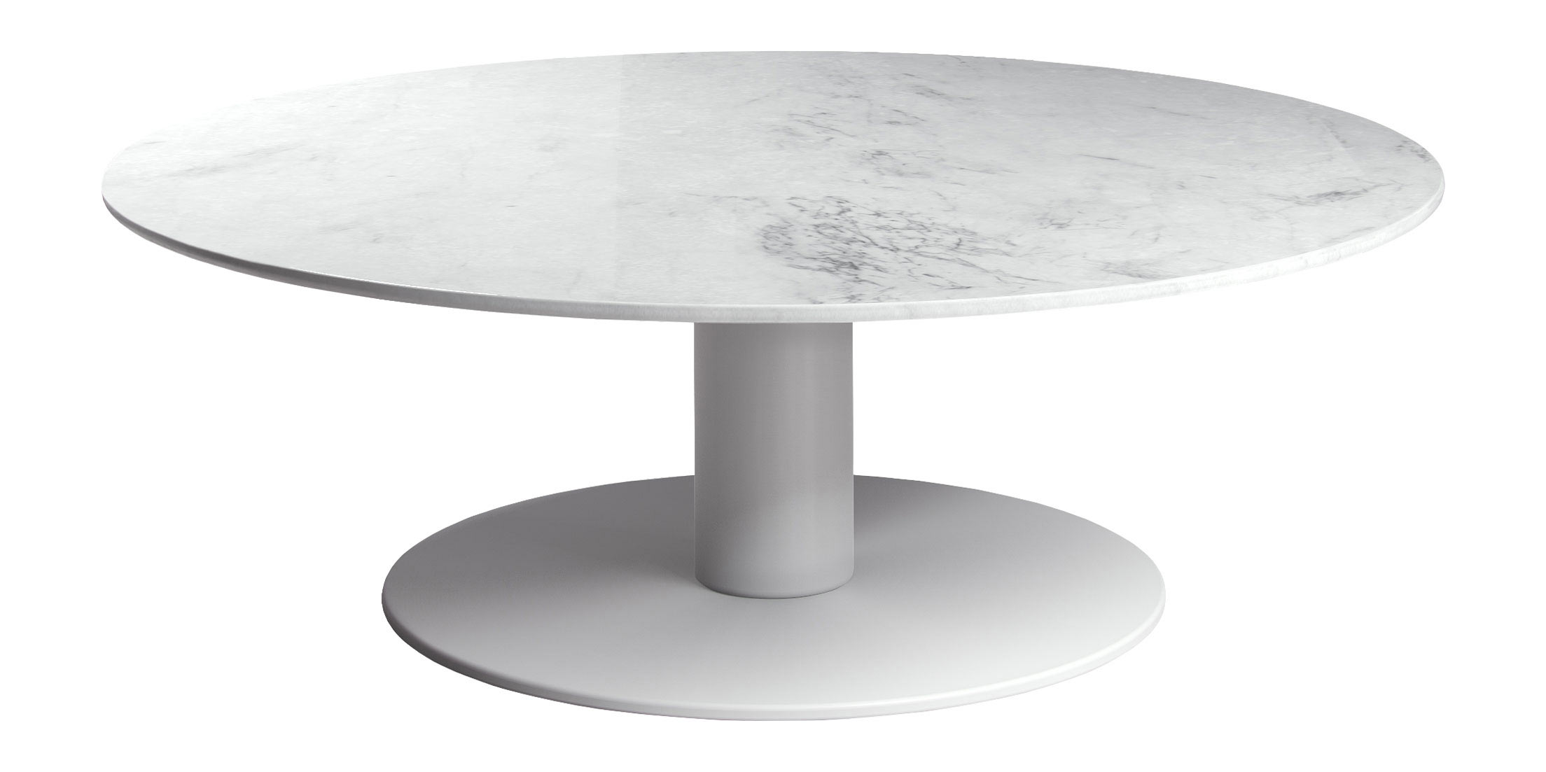 Bleecker Low Coffee Table White Marble By Modloft
