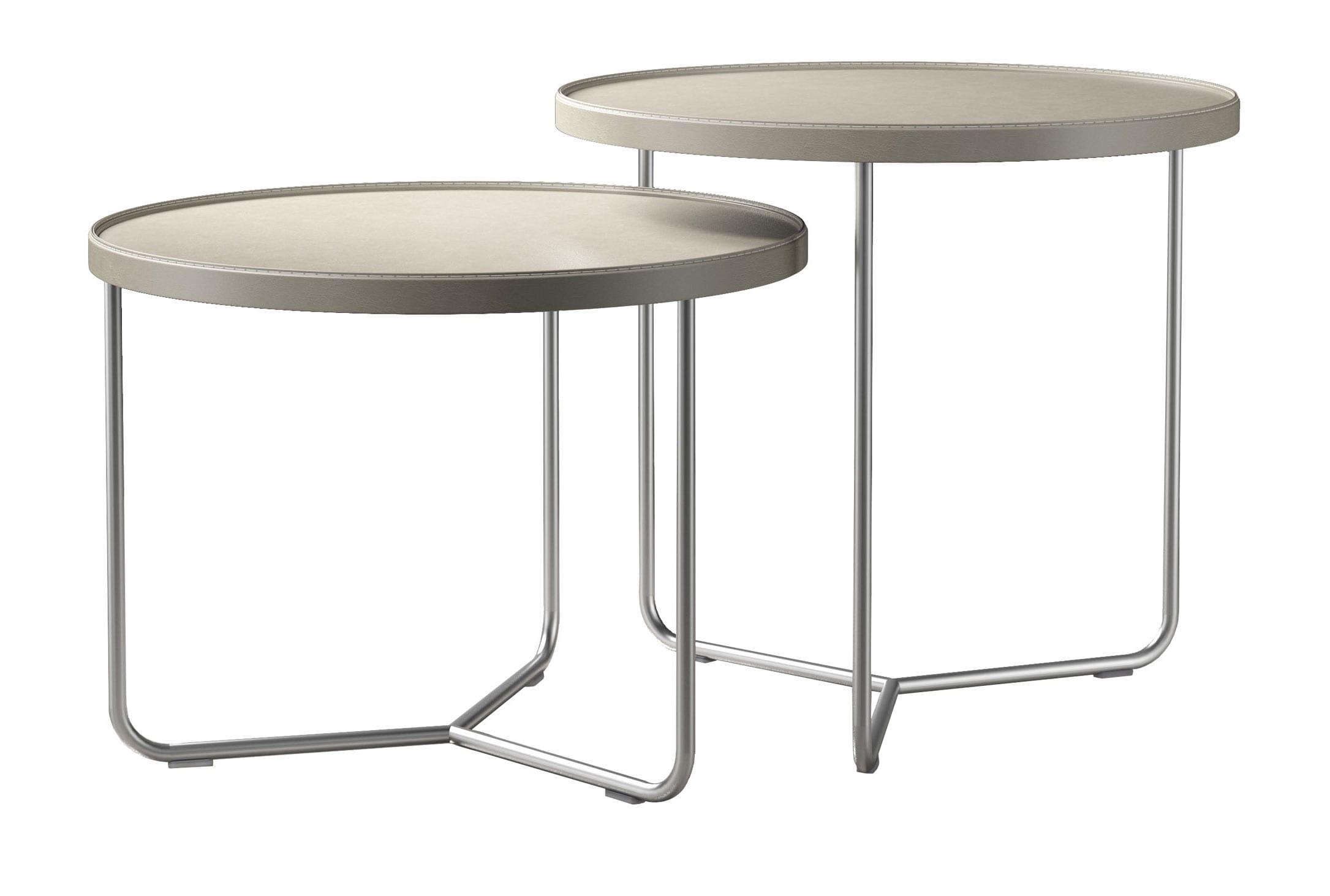Adelphi Nesting Side Table Set Beige By Modloft (Modloft)