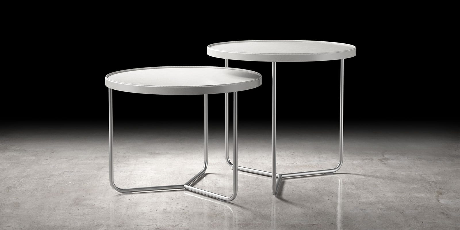 Cool Adelphi Nesting Side Table Set Bright White By Modloft Caraccident5 Cool Chair Designs And Ideas Caraccident5Info