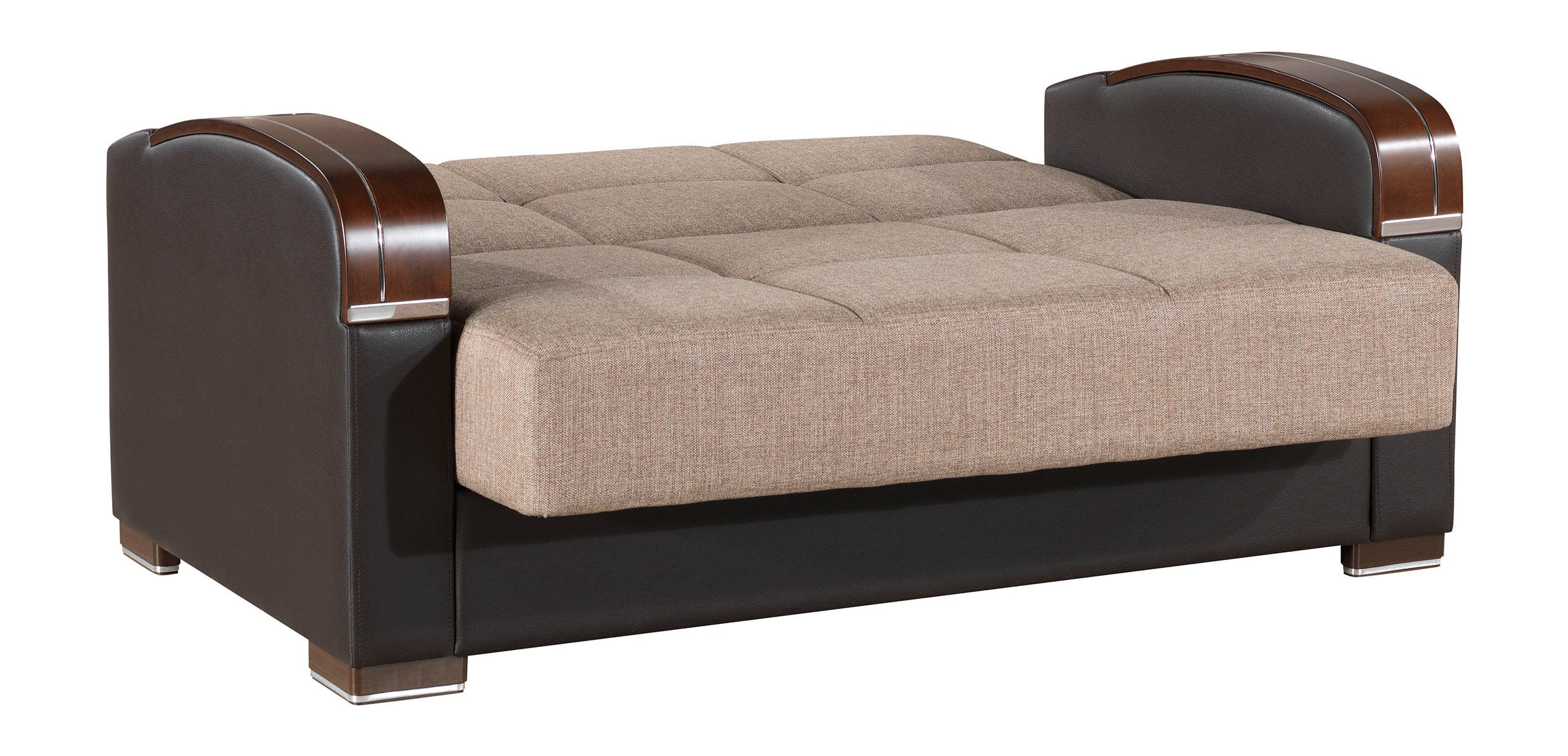 Admirable Mobimax Brown Loveseat By Casamode Inzonedesignstudio Interior Chair Design Inzonedesignstudiocom