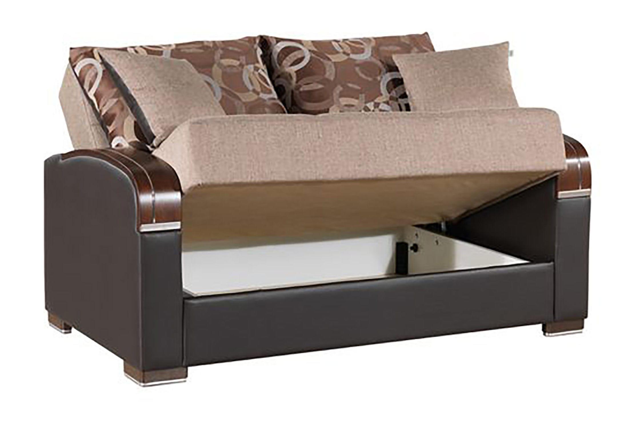 Brilliant Mobimax Brown Loveseat By Casamode Inzonedesignstudio Interior Chair Design Inzonedesignstudiocom
