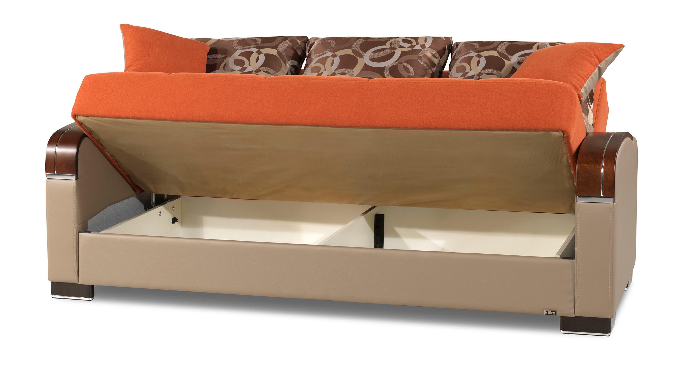 Cool Mobimax Orange Convertible Sofa Bed By Casamode Inzonedesignstudio Interior Chair Design Inzonedesignstudiocom