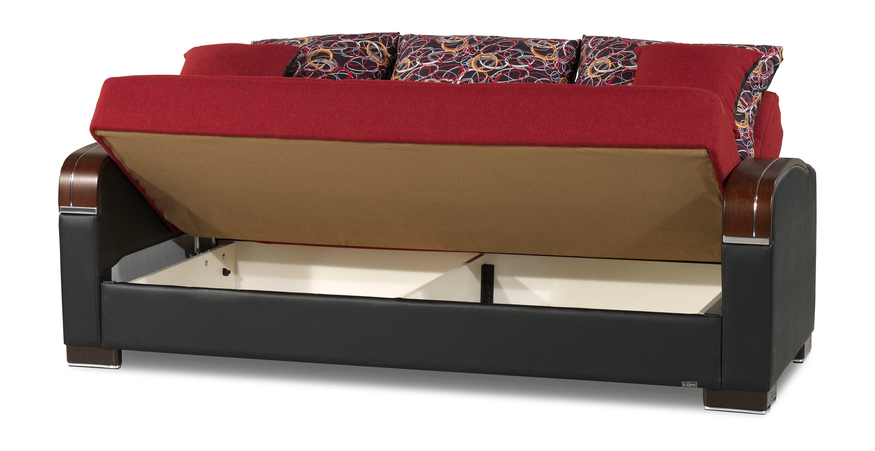 Mobimax Red Convertible Sofa Bed By Casamode
