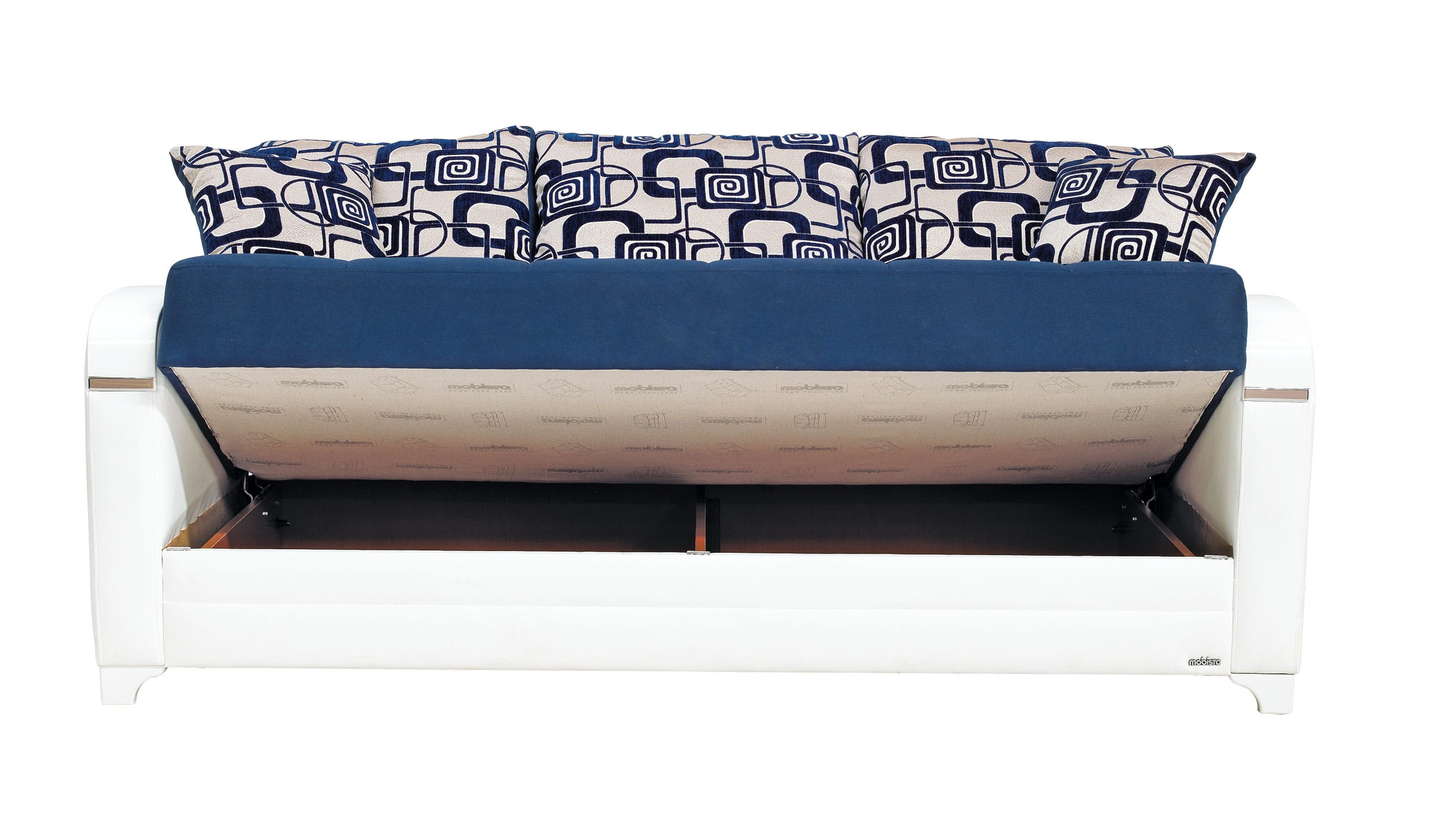 Mobetto Vintage Navy Blue Fabric Sofa Bed By Mobista