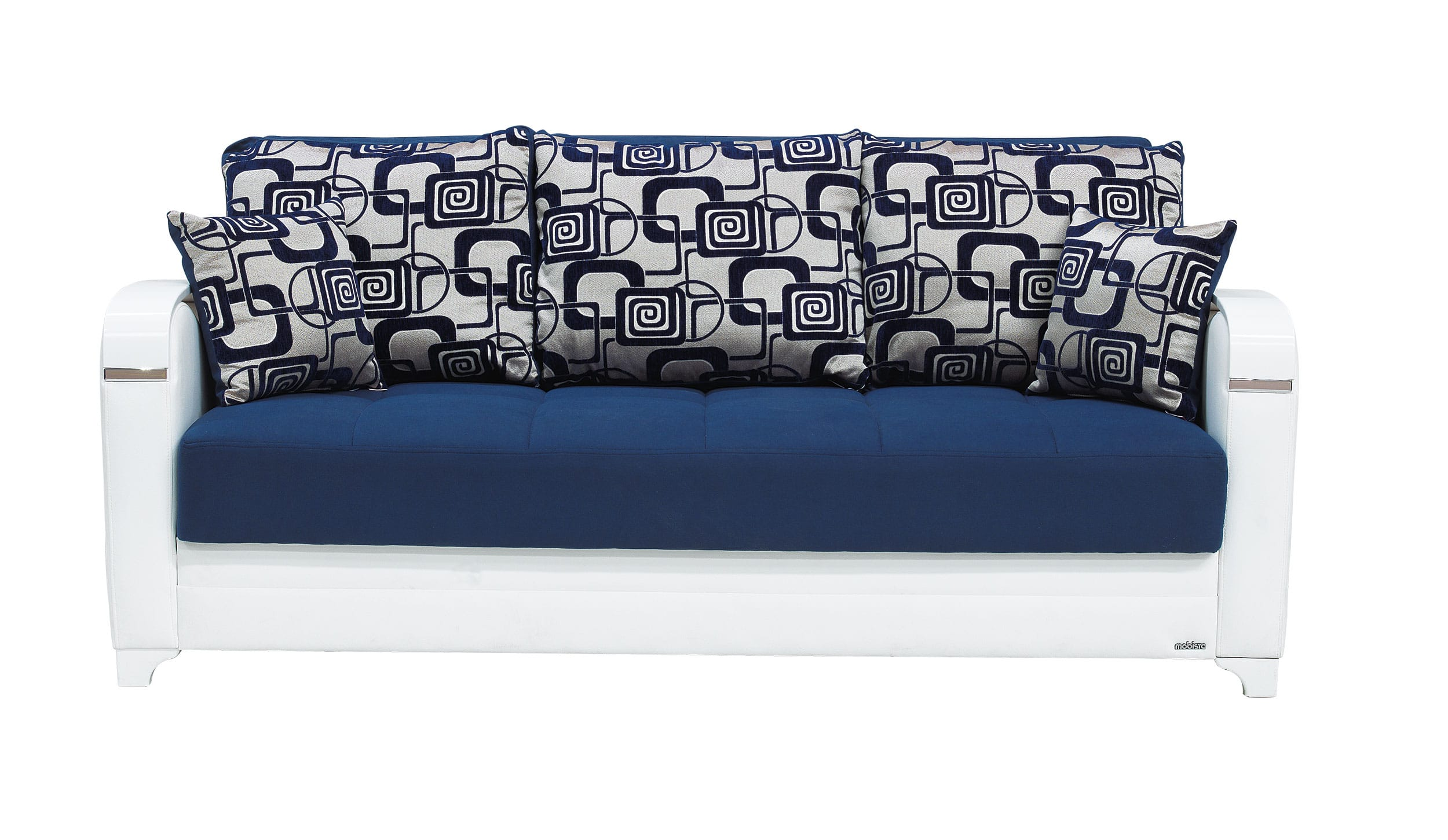 Mobetto Vintage Navy Blue Fabric Sofa Bed by Mobista (Mobista)
