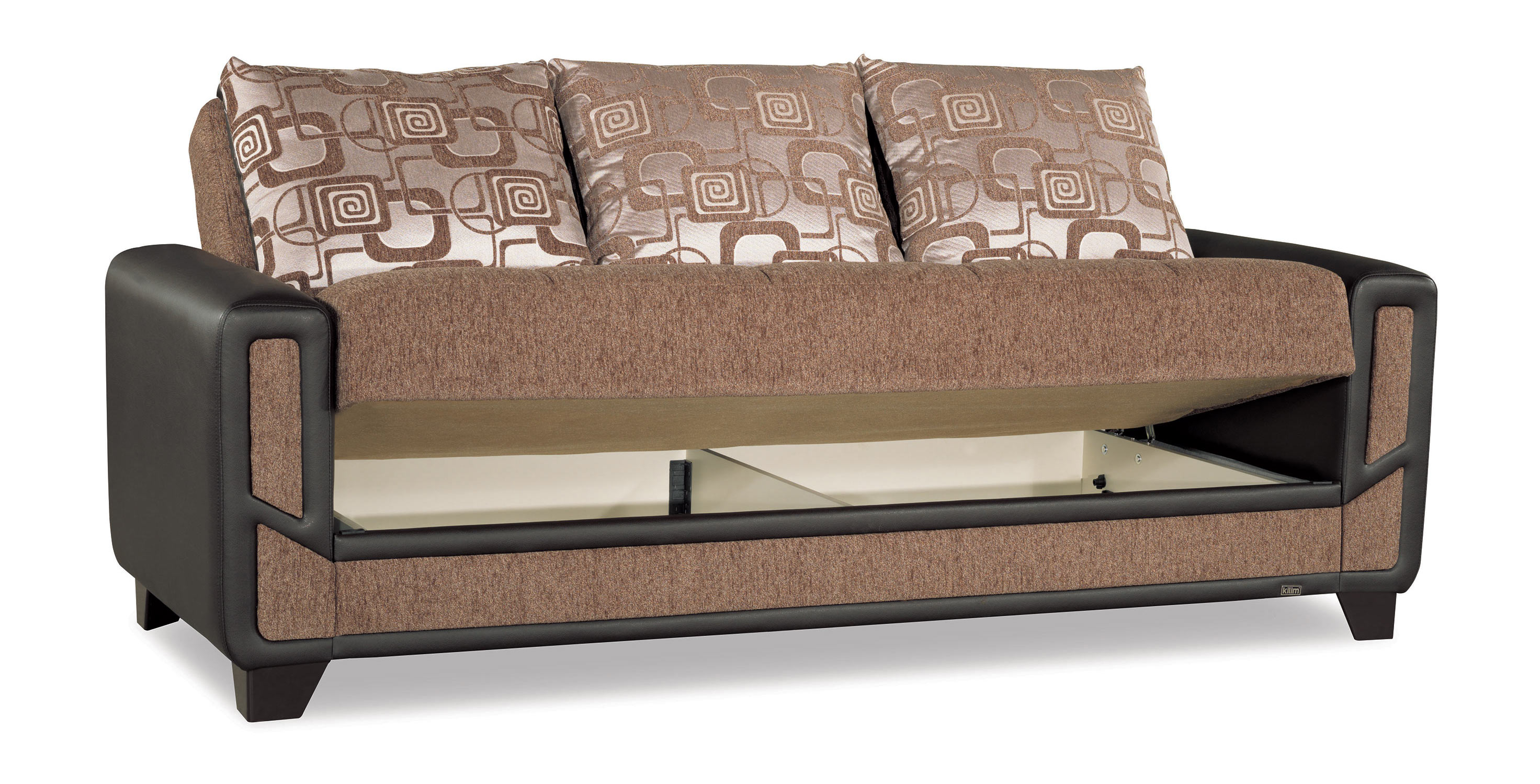 mondo modern brown convertible sofa bed by casamode. Black Bedroom Furniture Sets. Home Design Ideas