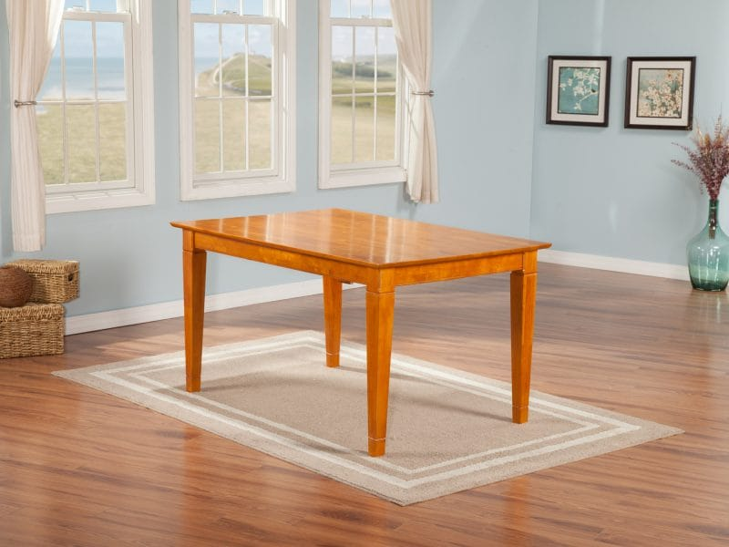 Montego Bay 36 X 60 Dining Table Caramel Latte By Atlantic Furniture