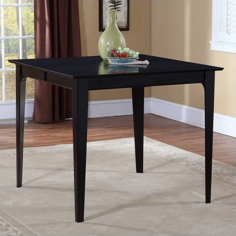 36 x 60 dining table black onyx montreal 36 60 dining table espresso by atlantic furniture atlantic furniture