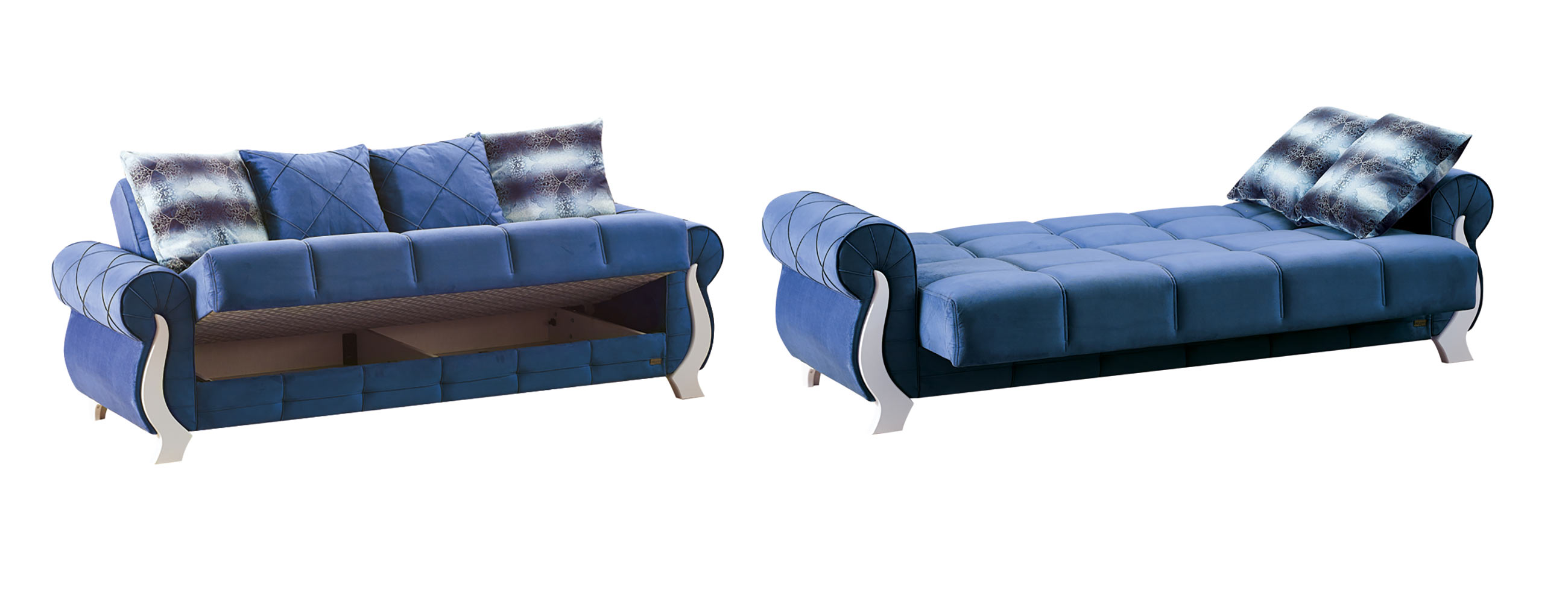Surprising Montreal Blue Fabric Sofa Bed By Empire Furniture Usa Ibusinesslaw Wood Chair Design Ideas Ibusinesslaworg