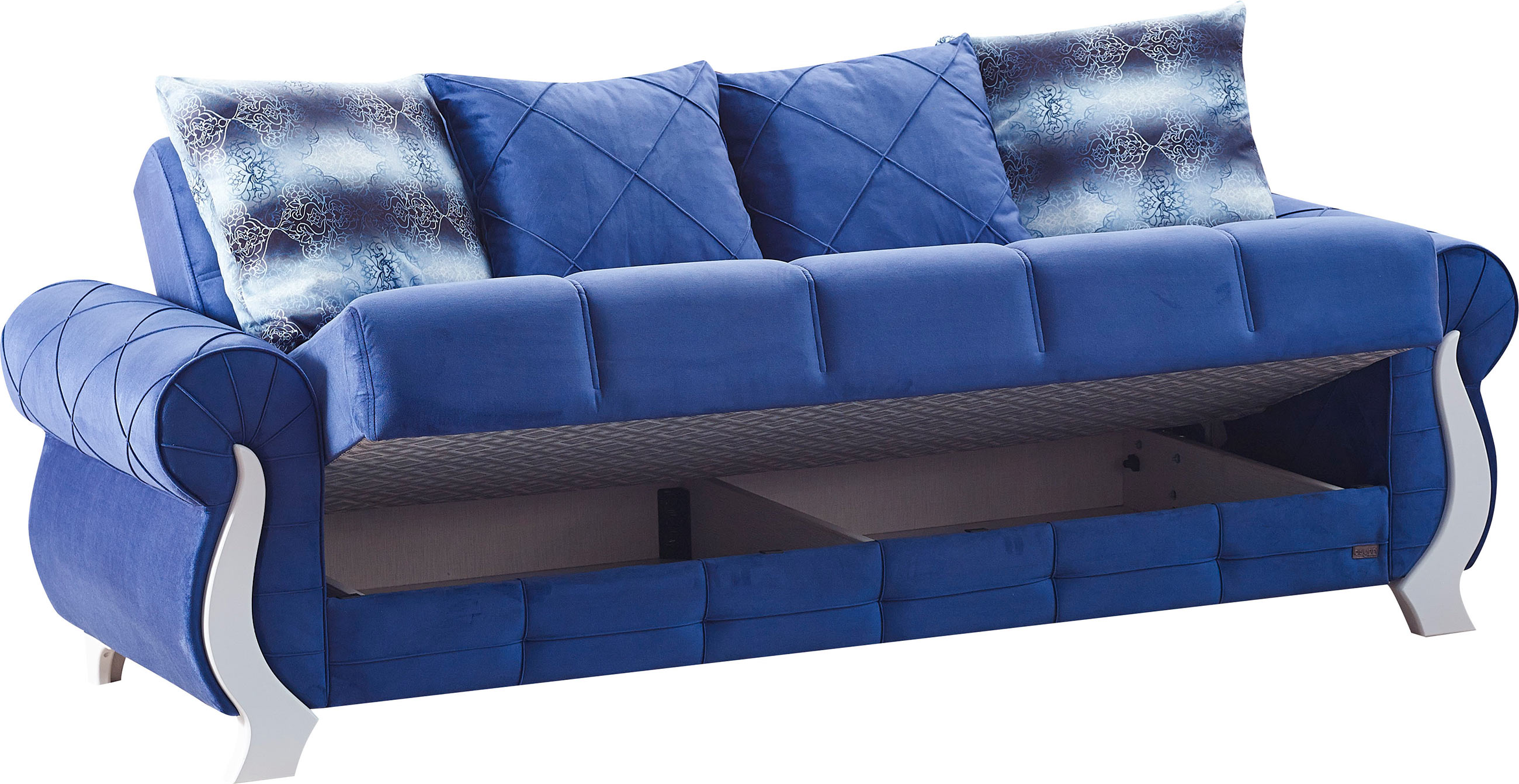 Montreal Blue Fabric Sofa Bed By Empire