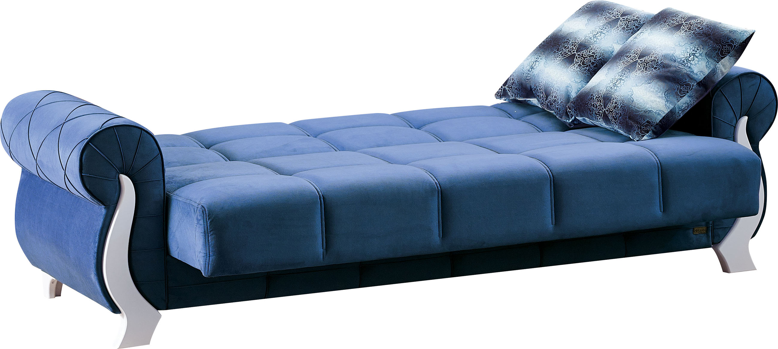 Admirable Montreal Blue Fabric Sofa Bed By Empire Furniture Usa Ibusinesslaw Wood Chair Design Ideas Ibusinesslaworg