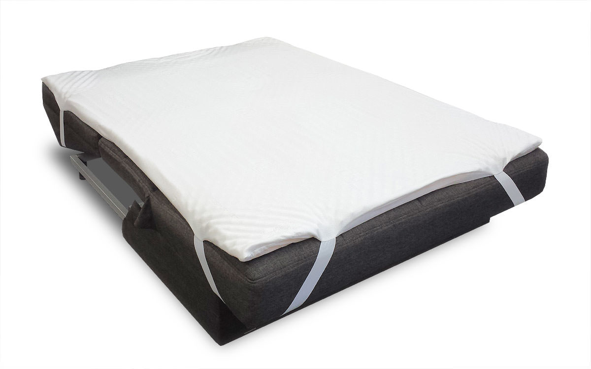 sofa bed pillow top mattress pad by comfort pure With best mattress pads for comfort