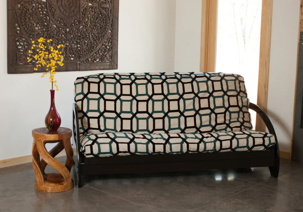 Metro Painted Black Queen Wall Hugger Futon Frame by Strata Furniture