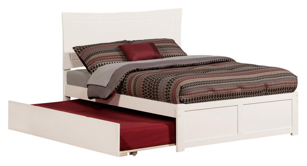 metro white platform bed by atlantic furniture