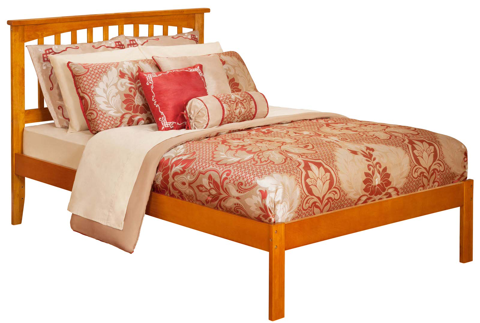 Mission Caramel Latte Platform Bed By Atlantic Furniture