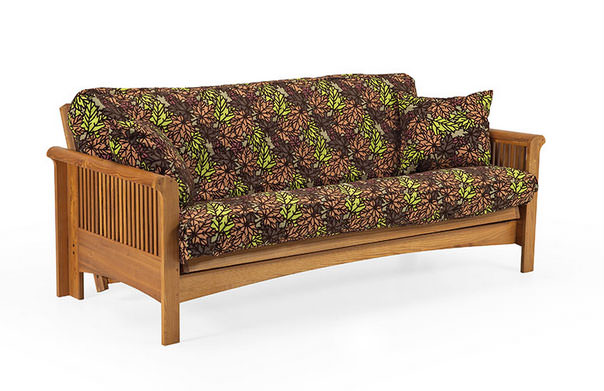 Mt baker vintage oak futon frame by lifestyle for Chair 6 mt baker