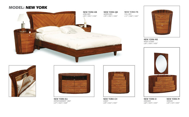 New York Kokuten Glossy Bedroom Set by Global Furniture