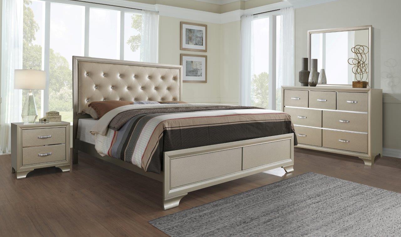 Noelle Champagne Bedroom Set By Global Furniture (Global Furniture)
