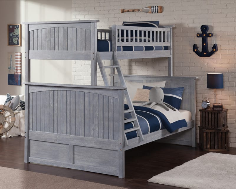 Nantucket Driftwood Brushed Grey Bunk Bed by Atlantic Furniture