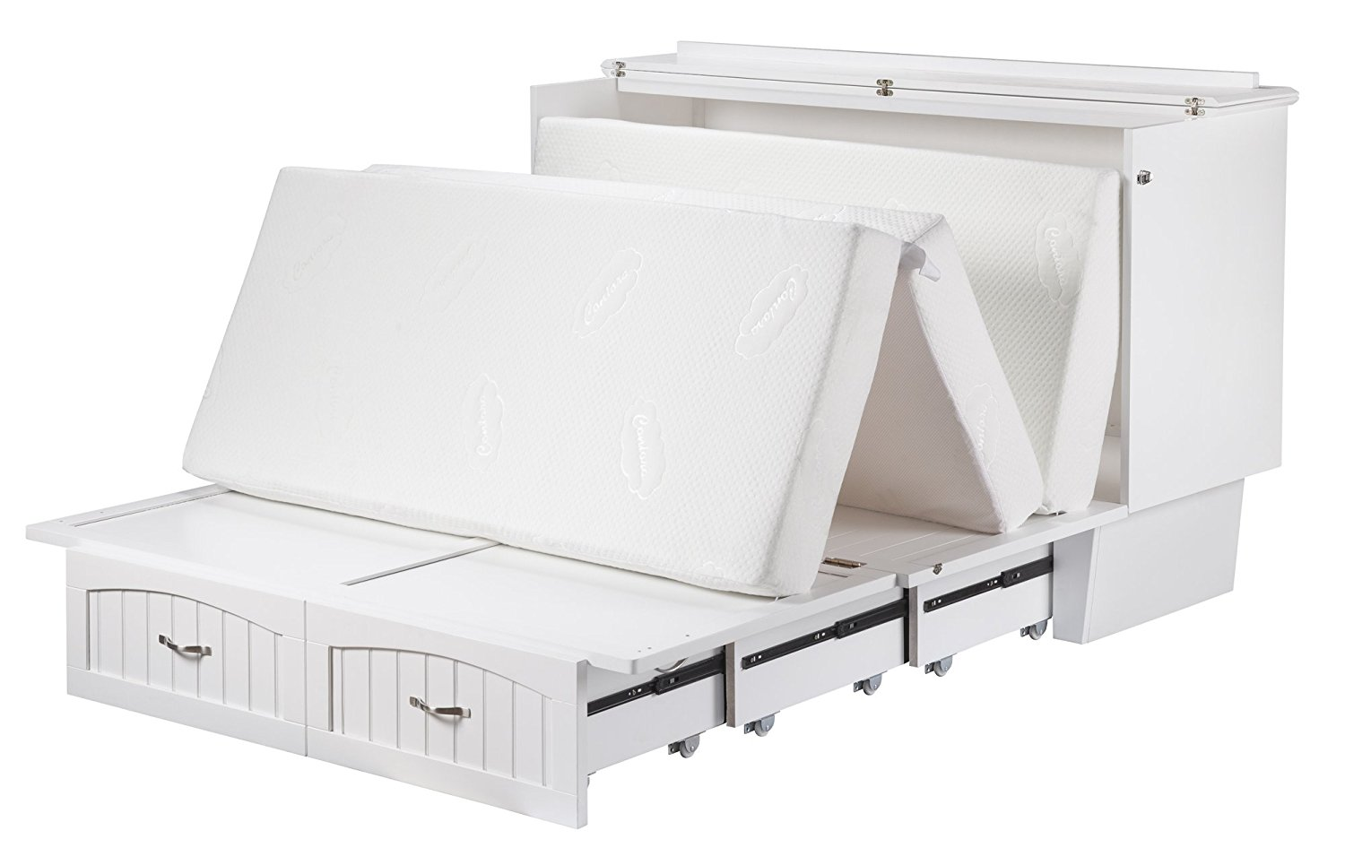 Nantucket Queen Murphy Bed Chest Bed White By Atlantic