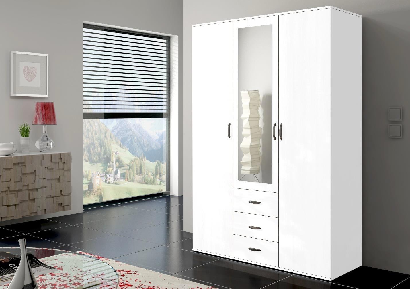 Orlando 59 Inch White Wardrobe By Skyler Designs