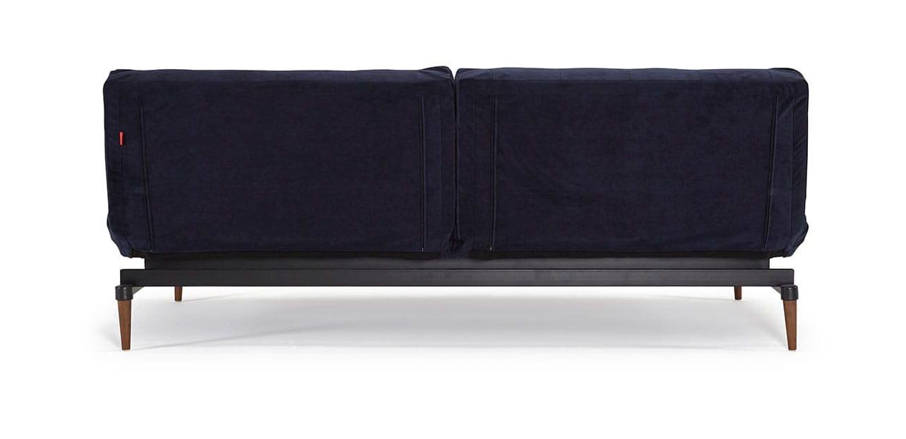 Oldschool Chesterfield Sofa Bed Velvet Dark Blue By Innovation