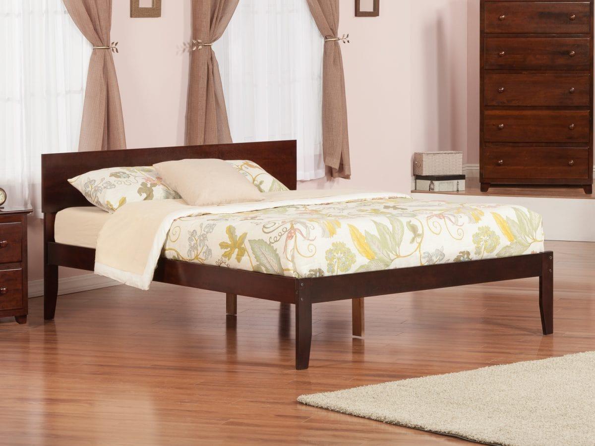 Orlando Antique Walnut Platform Bed By Atlantic Furniture (Atlantic  Furniture) - Orlando Antique Walnut Platform Bed By Atlantic Furniture