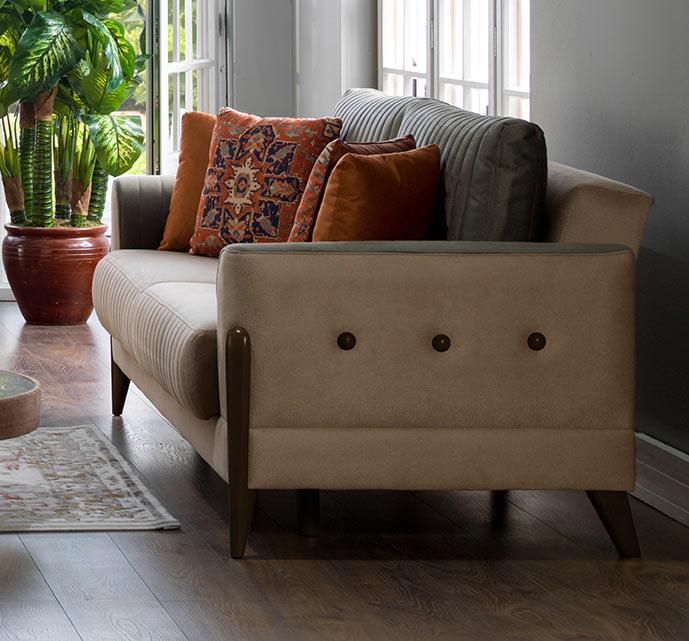 Piero Hande Beige Loveseat By Istikbal (Sunset) (Istikbal (Sunset Furniture ))