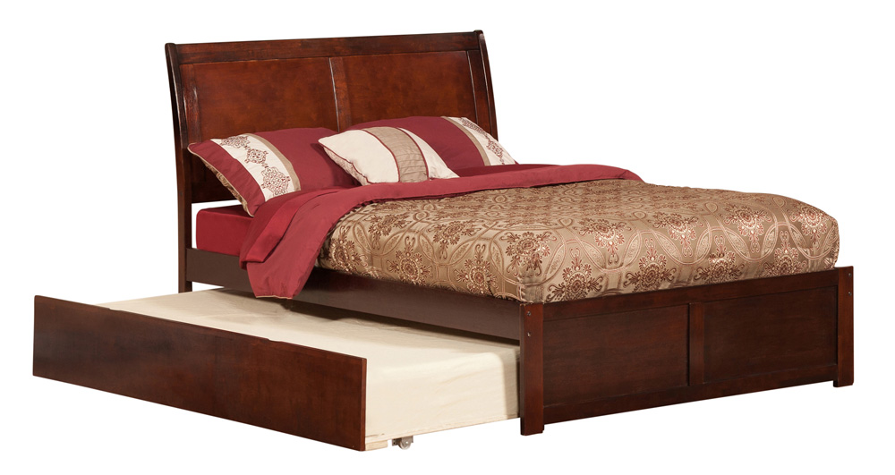 Portland Antique Walnut Platform Bed By Atlantic Furniture