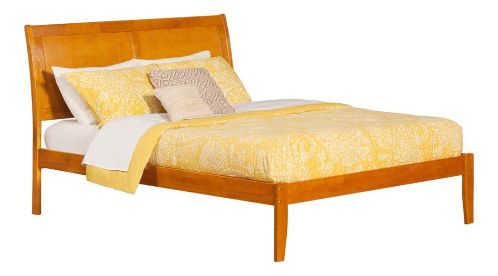 Platform Beds Portland Oregon Part - 30: Portland Caramel Latte Platform Bed By Atlantic Furniture (Atlantic  Furniture)