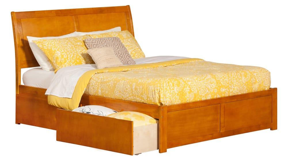 Platform Beds Portland Oregon Part - 43: Portland Caramel Latte Platform Bed By Atlantic Furniture (Atlantic  Furniture)