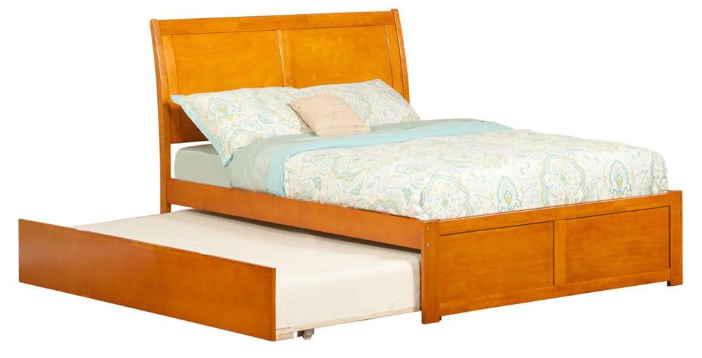 Portland Caramel Latte Platform Bed by Atlantic Furniture