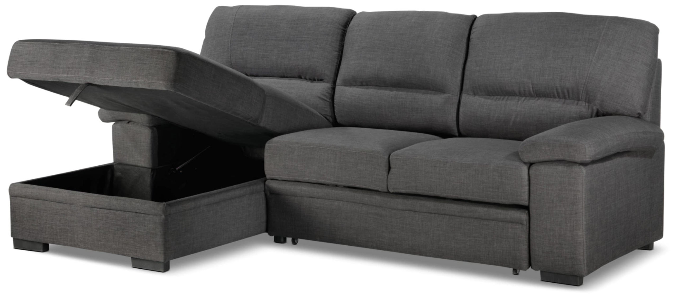 Tessaro Sleeper Sectional Dark Gray By Primo