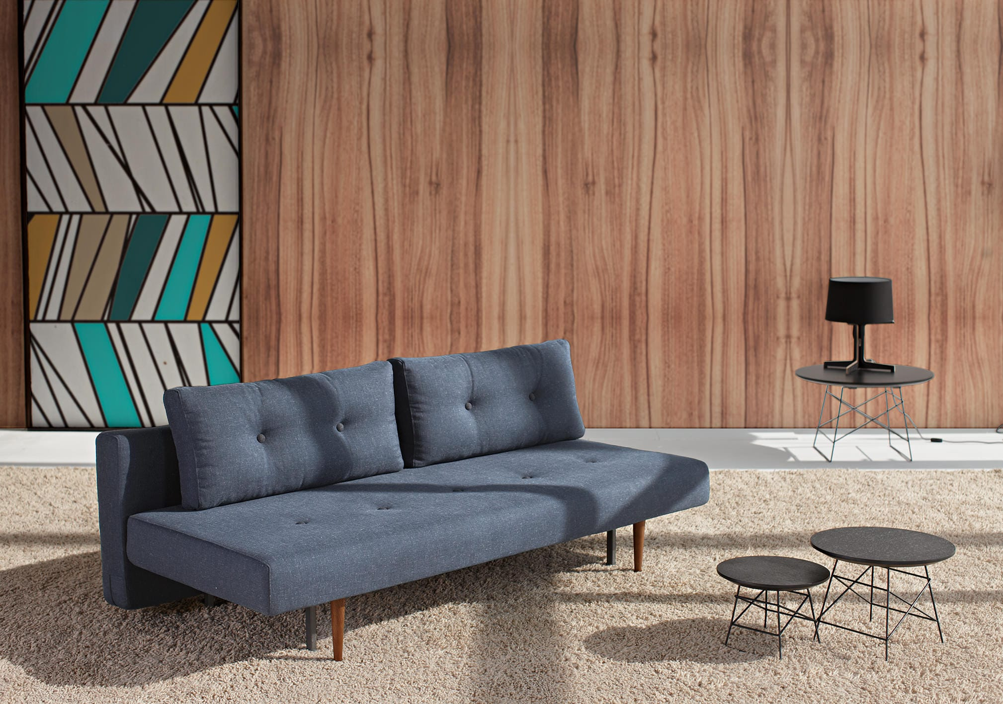 Recast Sofa Bed (Full Size) Nist Blue By Innovation (Innovation USA)